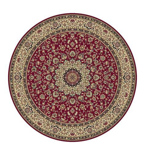 tappeto classico tappeto isfahan classico rotondo medaglione rosso 12217