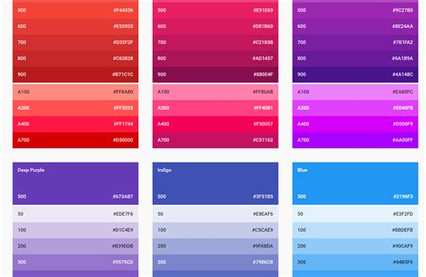 colour style get acquainted with material design free templates online