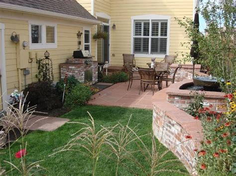 country style backyard country landscape design lakewood co photo gallery