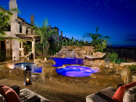 patio and pool 10 pool deck and patio designs hgtv