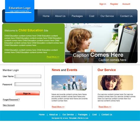 free education psd web template templates perfect