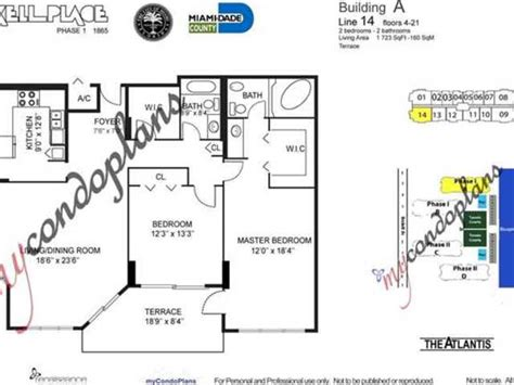 brickell place floor plans brickell place a2114 1865 brickell av a2114 miami fl