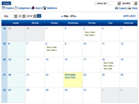 Design Calendar In Php | calendar exle in php blank calendar design 2018