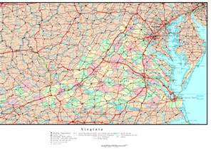 Map Virginia by Virginia Political Map
