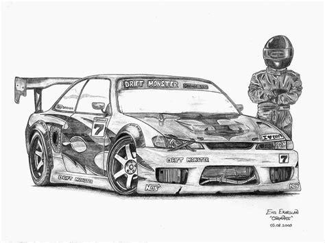 nissan silvia drawing nissan silvia s14 by orangenes on deviantart