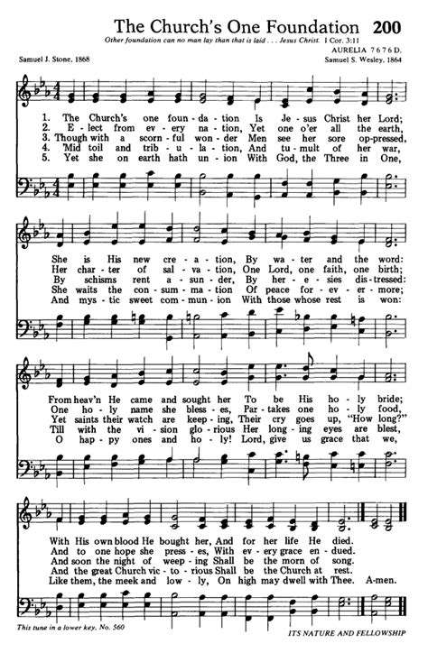 Etymology of Hymns: The Church's One Foundation