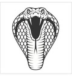 king cobra head tribal royalty free vector image