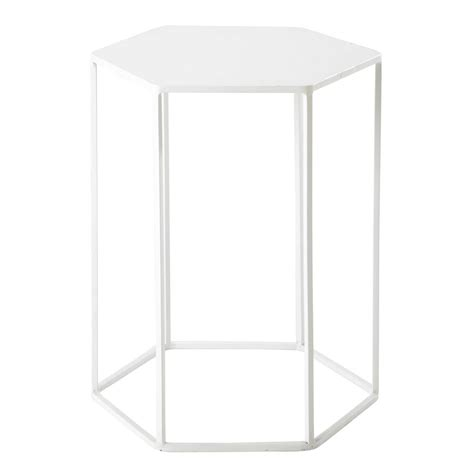 45 cm side table finnois metal side table in white w 45cm maisons du monde