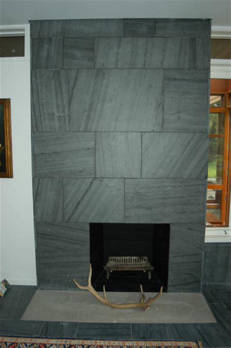 Black Slate Fireplace Surround by Slate Fireplace Surround Indoor Fireplaces Other Metro