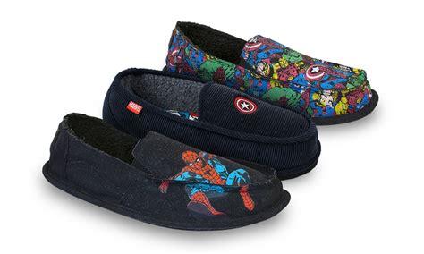 marvel slippers marvel indoor outdoor slippers groupon goods