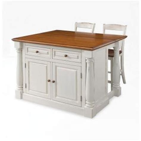 home styles monarch white kitchen island with seating 5020