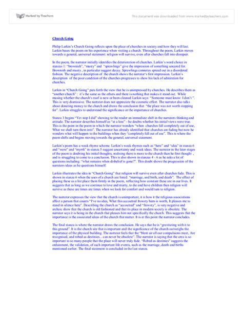 Church Essay by Philip Larkin Church Going Essay Writinggroups319 Web Fc2