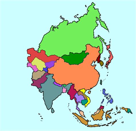 asia map with names map of asia without names derietlandenexposities