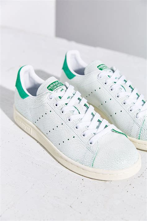 adidas stan smith sneaker adidas originals stan smith crackle sneaker in green lyst
