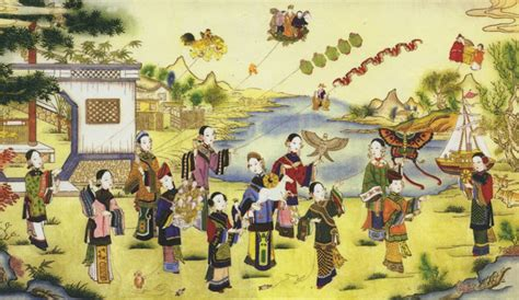 asian painting festival the jade turtle records qingming festival