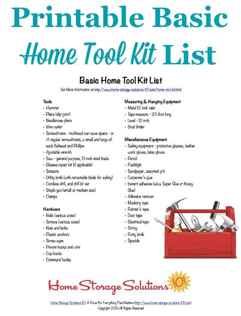 list of tools basic home tool kit list make sure you the essentials