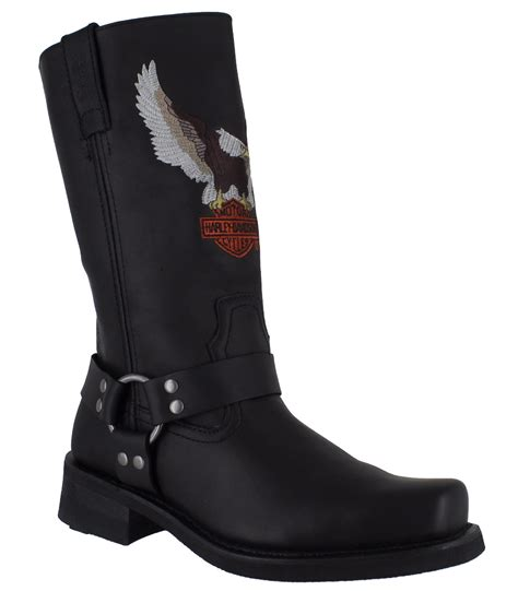 mens motorcycle riding boots harley davidson darren mens black motorcycle riding eagle