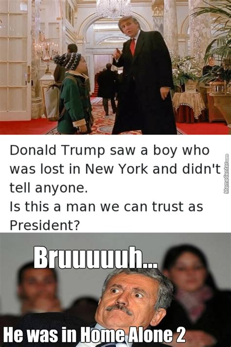 donald trump home alone 2 meme wait donald trump is in home alone 2 bruhhhhhhhh