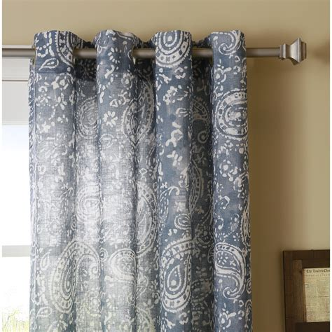 paisley sheer curtains best home fashion inc paisley sheer grommet curtain