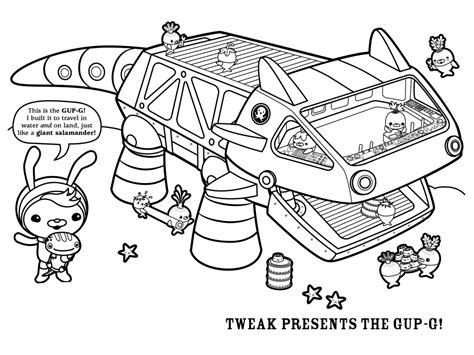 Gup X Coloring Page by Free Printable Octonauts Coloring Pages