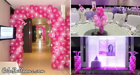 Debut Th  Ee  Birthday Ee   Cebu Balloons And Party Supplies