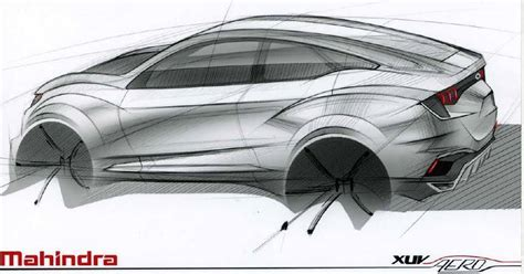 xuv500 design concept mahindra xuv aero coupe suv concept design sketch released