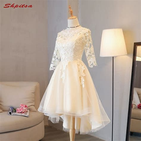 short lace homecoming dresses long sleeve  grade