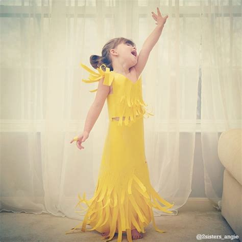 Style Report Fashions by This 4 Year Makes Paper Dresses With And
