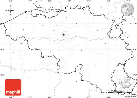 blank map of belgium blank simple map of belgium no labels