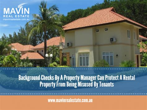 Rental Property Background Check Background Checks By A Property Manager Can Protect A Rental Property From Being