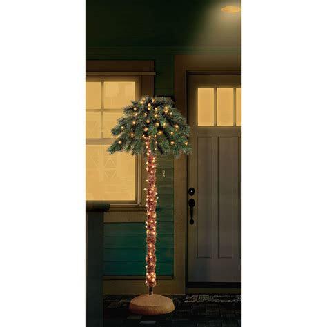 what artificial pre lit chridtmas are at home depot artificial trees 6 ft pre lit palm tree indoor outdoor clear lights 764878134501 ebay