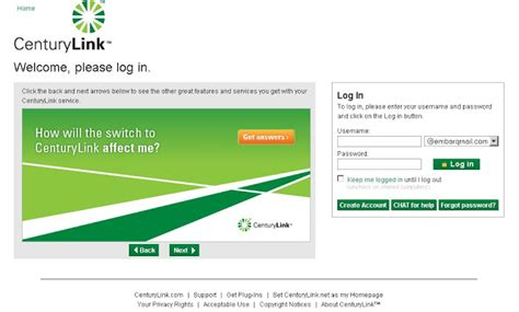 century link home page how to login to embarq mail website embarqmail