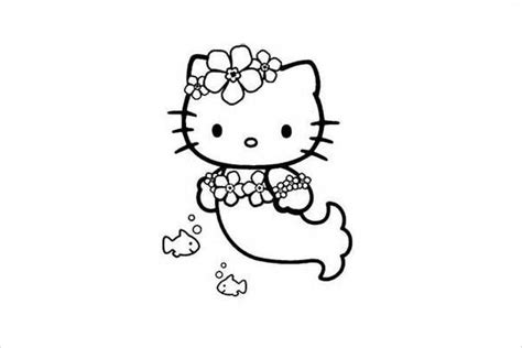 Hello Kitty Mermaid Coloring Pages Sketch Coloring Page Hello Mermaid Coloring Pages
