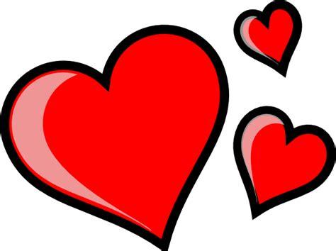 hearts clipart three hearts clip at clker vector clip