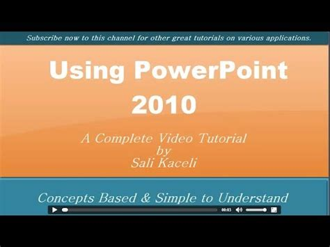 powerpoint tutorial youtube video powerpoint 2010 tutorial all you need to know about