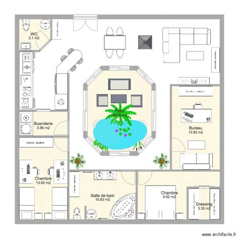 Plan De Maison Avec Patio Central by Maison Plain Pied Avec Patio