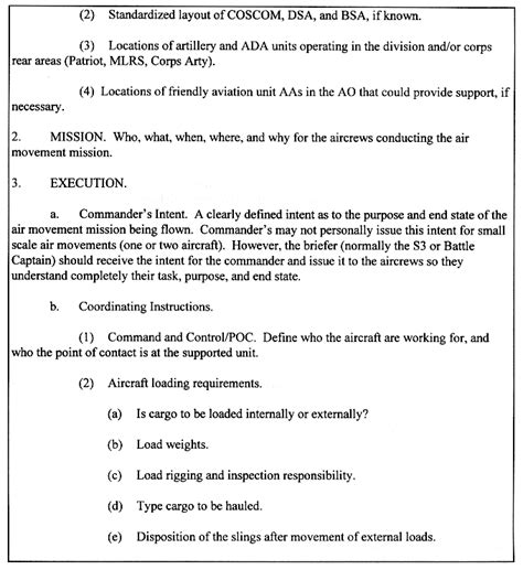 army information brief template fm 1 113 appendix h