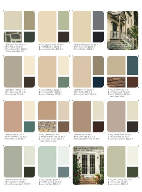 2014 exterior shutter and door paint schemes record the