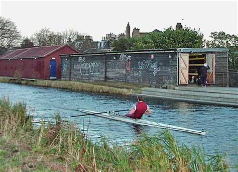 boat house edinburgh rowing on the union canal beside the edinburgh university