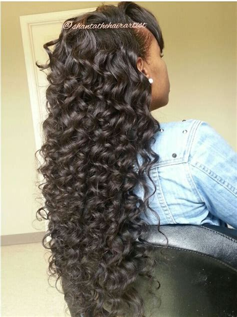 wand curled hairstyles wand curl sew in shantathehairartist littlerockstylist