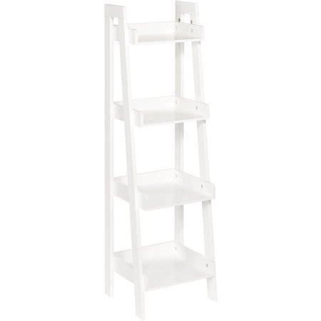 walmart white shelves riverridge 4 tier ladder shelf white walmart