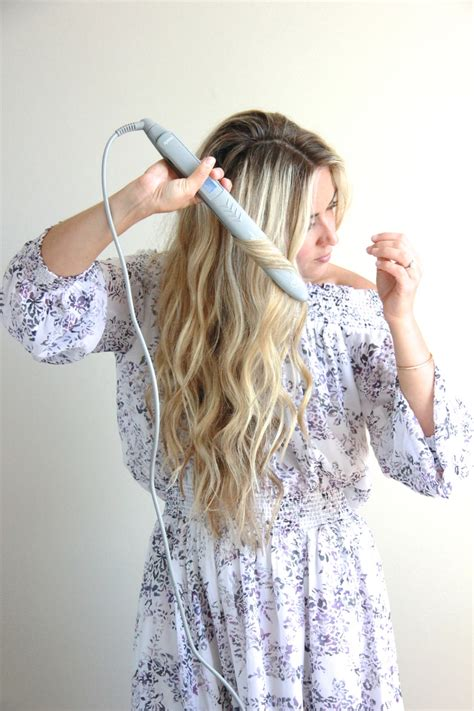 how to use straightner to get beach waves of shoulder length hair cara jourdan wavy hair tutorial with flat iron