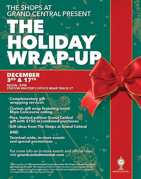 grand central terminal s free holiday wrap up event