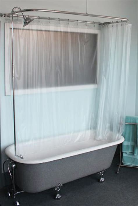 clawfoot bath shower curtain rail corner clawfoot tub ceiling hung shower curtain track