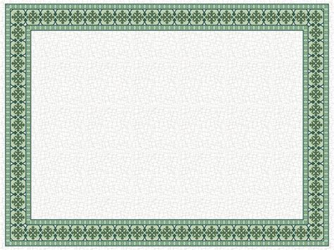 powerpoint certificate template tile border elearningart
