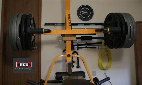 Home Gym Weight Bench Homemade Powertec Leverage Arm Block