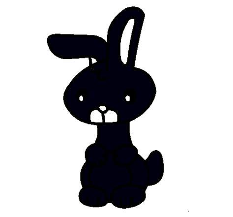 imagenes en negro para estar dibujo de art el conejo pintado por negro en dibujos net