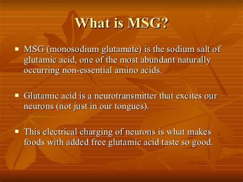 free glutamic acid msg