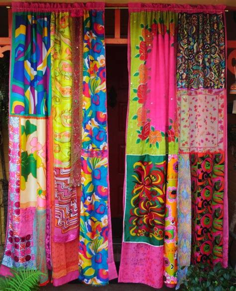 cortinas hippies mod mod world handmade gypsy curtains hippie global