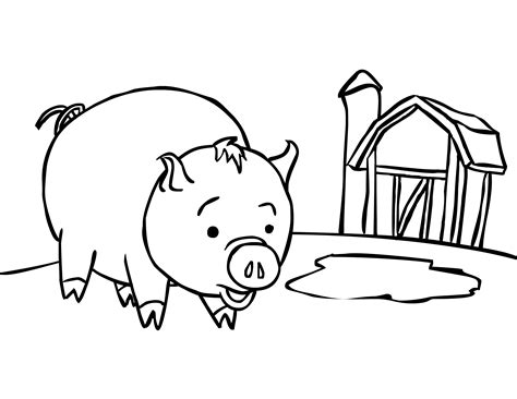 coloring page of a pig free printable pig coloring pages for